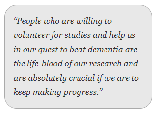 People over the age of 50 and without a diagnosis of dementia are being asked to consider taking part in dementia prevention research.